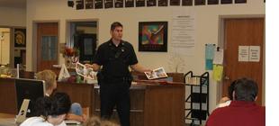 Officer Turns Substitute Teacher