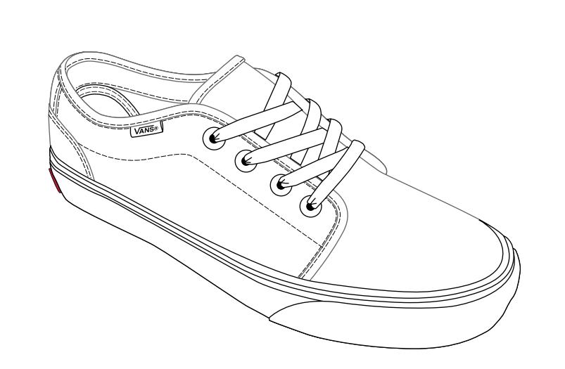 Drawing of Vans Shoes Vans Shoe Draw