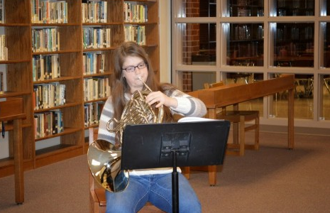AHS Student Shows Talent to the School Board