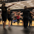 Students practice their 2014-2015 show choir set.  They have six songs in this year's show.