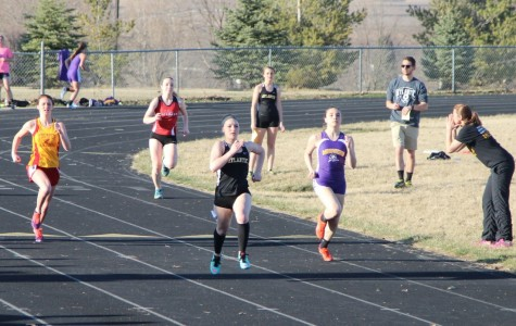 Girls Track Compete at First Outdoor Meet