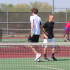 Seniors Ben Parker and Kyle Krueger won their doubles match against the Knights. Parker and Krueger have played #2 doubles all season.