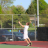 Sophomore Grant Podhajsky plays the #1 varsity spot for the boy's tennis team. Podhajsky and Cooper McDermott were 3rd overall in the conference tournament.
