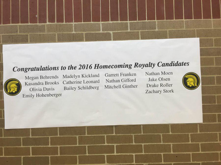 2016 Homecoming Royalty