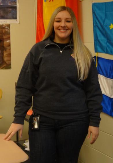 HOLA-Trisha Niceswanger teaches Spanish at AHS.