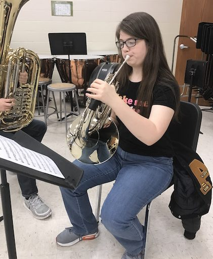 SHOWING OFF - Senior Nadia Somers will be going to Ames to perform her best of center solo in hopes to get a scholarship.