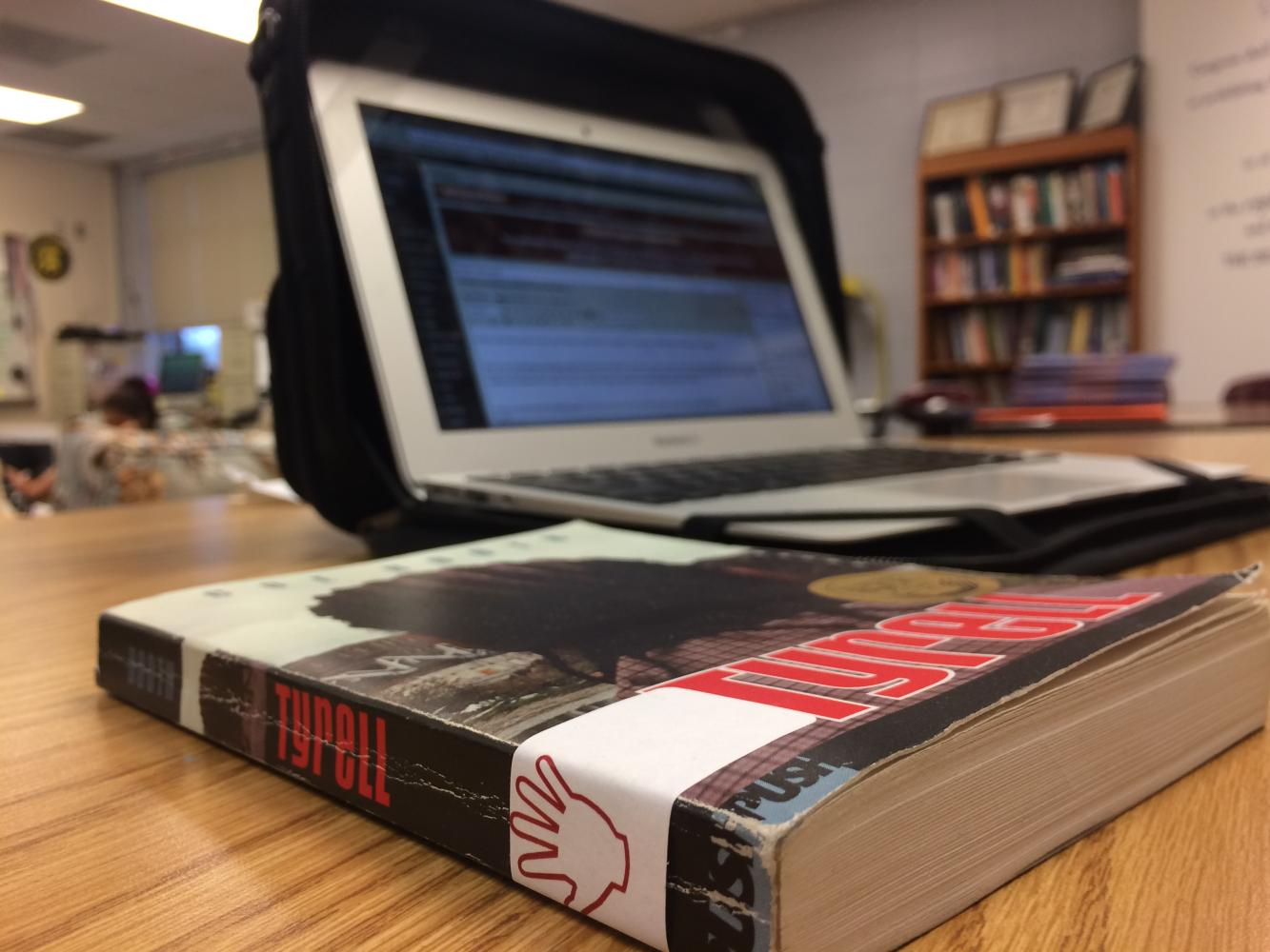 Students read both printed and Ebooks at AHS.