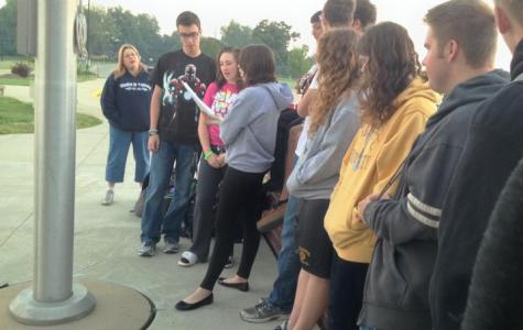 Students Gather for Prayer at the Pole