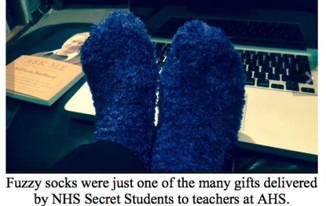 NHS Secret Students Deliver Gifts