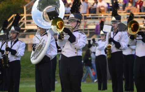 AHS Trojan Guard Performs First Game (Pictures)