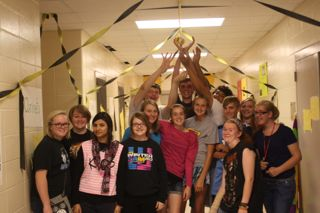 Petunia and the Golden Potato: Music Department Decorates for Homecoming