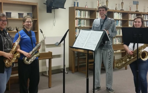 Saxophone Group Performs at Board Meeting