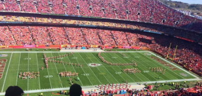 Halftime at the Chiefs game against Steelers featured dancers including representation from Dance Atlantic. The Chiefs won 23-13. --Photo credit Dance Atlantic Facebook Page