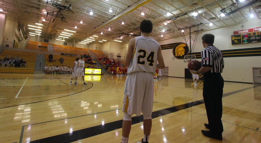 Freshman Matt Gearheart is the starting point guard on the freshmen team.