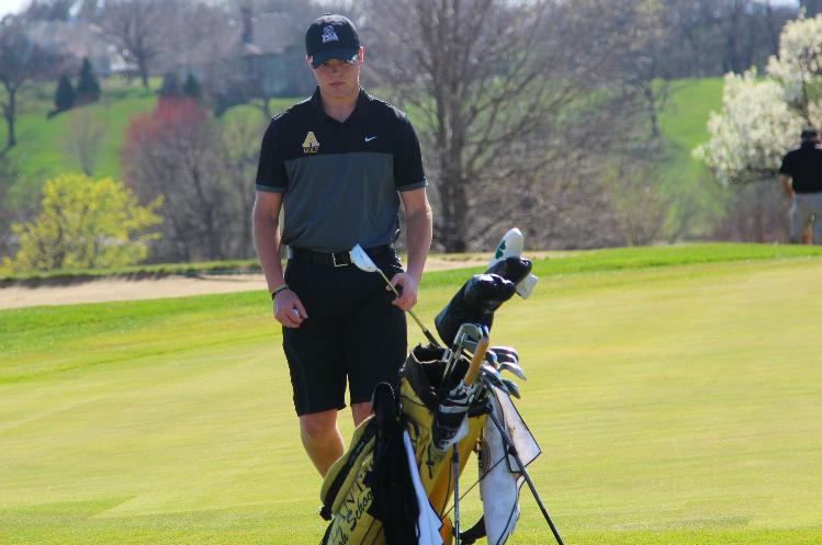#1 golfer junior Jake Olsen placed 1st last night against Denison.