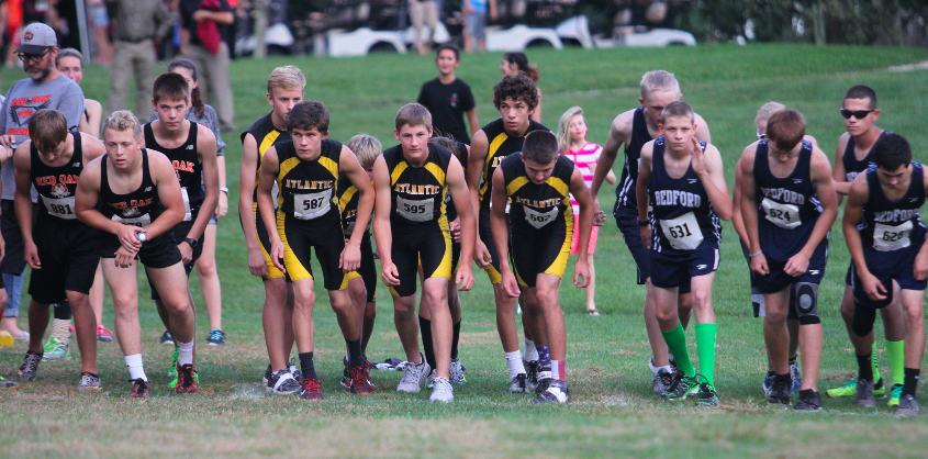 The boys' cross country team had their runners finish strong at the Red Oak meet. Senior Phoenix Shadden, freshman Bradley Dennis, and junior Cale Pellet are the first, second, and third runners on the team.