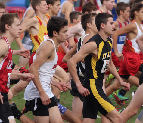 Senior Phoenix Shadden takes off at the State meet in Fort Dodge on Saturday, Oct. 29.