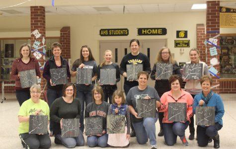 Painting Class Brings Winter Sunshine