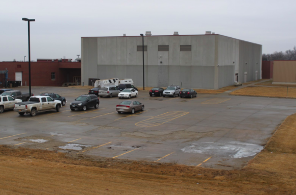 A LOT TO THINK ABOUT -This picture shows empty parking spots in the back of the high school. Students have questioned why they cannot park their vehicles here if the spots are not used.