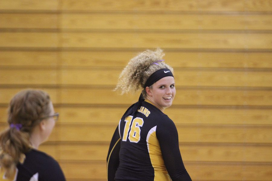Catherine Leonard has participated in volleyball all four years of high school.