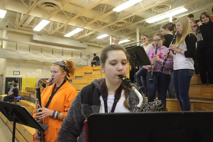 Behrens has participated in pep band throughout high school.