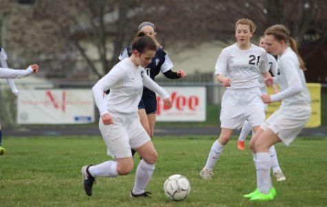 Girls Soccer Scores First Goals of Season.