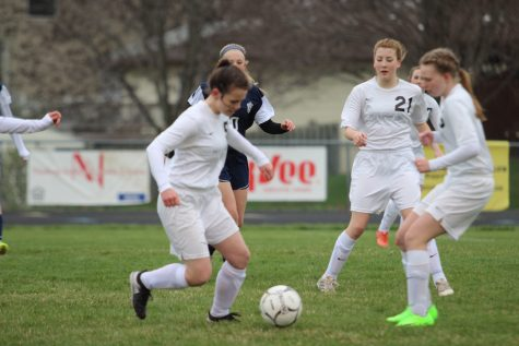 Girls Soccer Scores First Goals of Season.