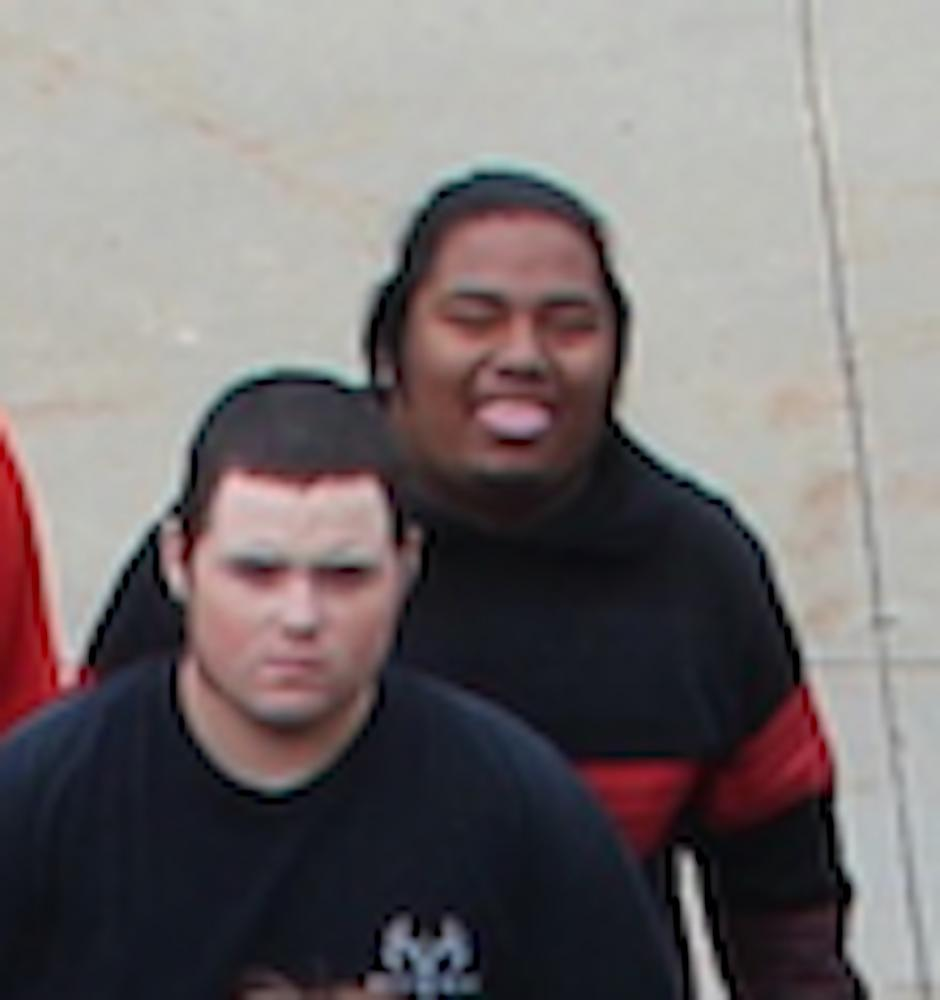 Russell (front) with fellow senior D-One Yechem.
