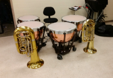 THE SOUND OF MUSIC- The band program has a wide budget. They receive money from the general fund, as well as from the Booster Club and the ACSD Foundation. The money is used to repair and buy new instruments.