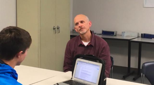 Brian Church talks about his first semester as the Design Technology teacher at Iowa Western.