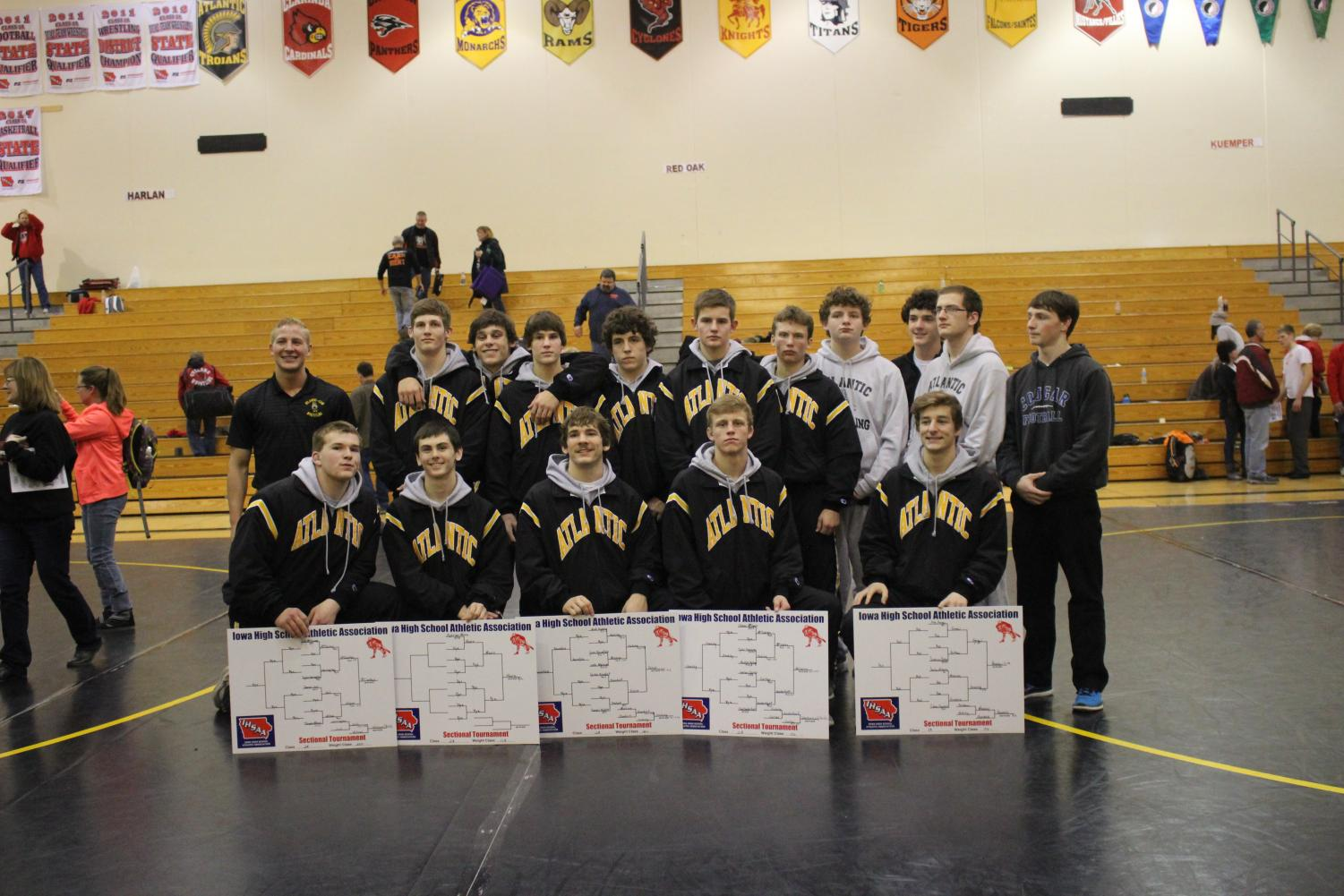 SUCCESSFUL DAY - Eight Trojan wrestlers have secured their spot to compete for state at districts.