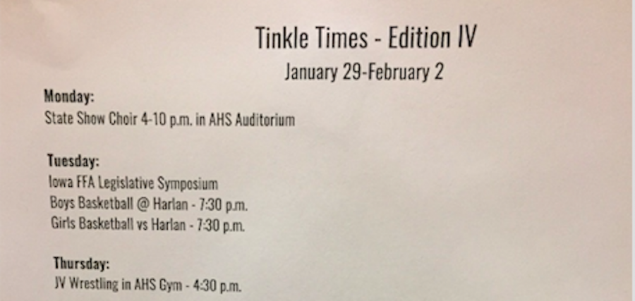 NEWS BRIEF - Tinkle Times Adds Positivity to AHS