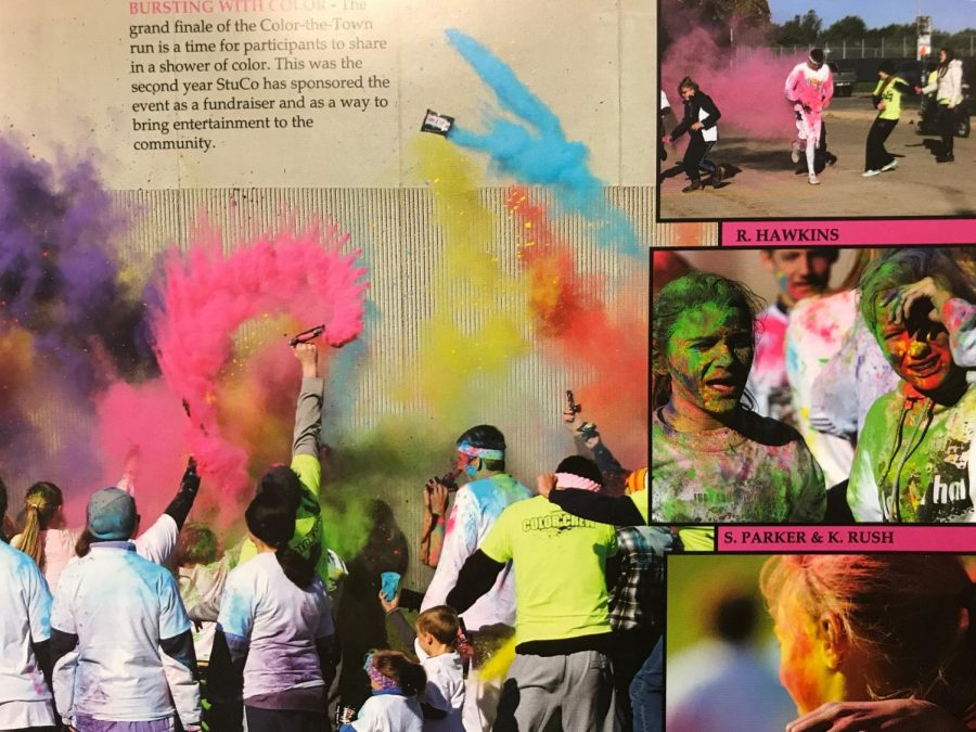 The last color run was held in the fall of 2015. It was organized by the Student Council and participants enjoyed it greatly.