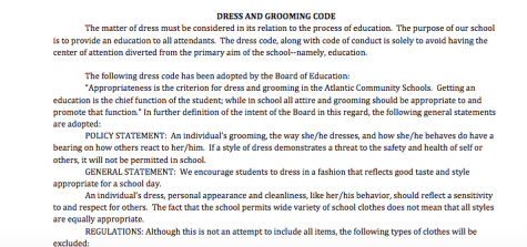 NEWS BRIEF – Dress Code Comes Up Again