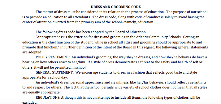 NEWS BRIEF - Dress Code Comes Up Again
