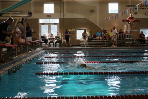 Girls' Swim Team Improves from Dowling