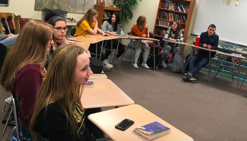 Students of AHS discuss true crime.