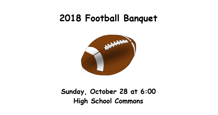 NEWS BRIEF -- Seniors Prepare to Celebrate 2018 Football Banquet
