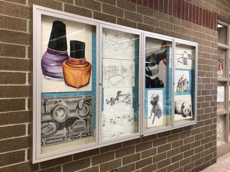Students' Art Brightens the Hallways