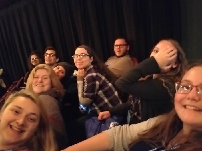 SELFIE+-+Students+attending+the+Thespian+Festival+smile+for+a+photo.+There+were+eight+total+attendees+from+Atlantic.
