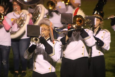Marching Band Performs Their Friday Night Finale