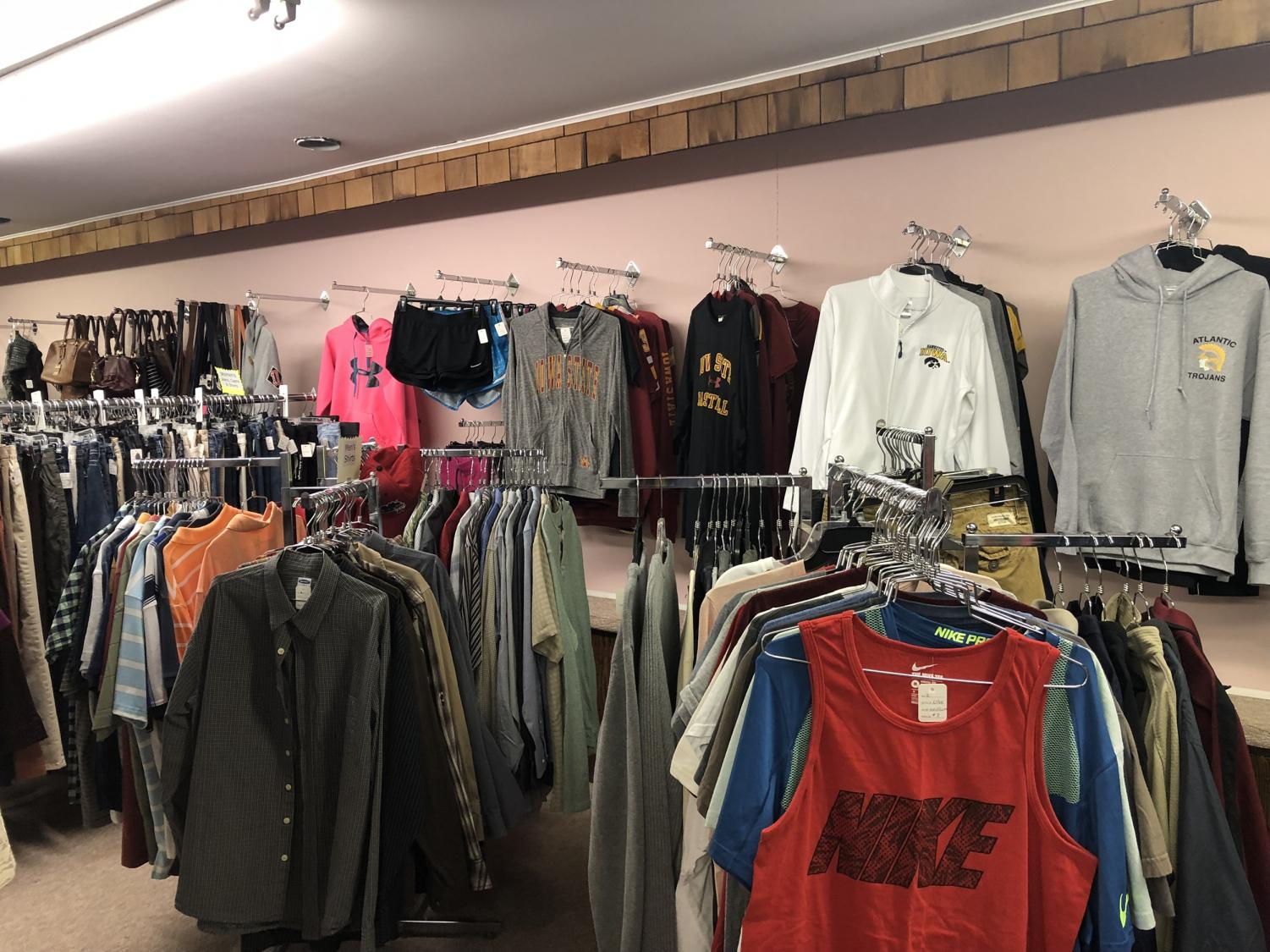 The racks are filled with many clothes for all ages and genders. Off the Rack is located on Chestnut Street.
