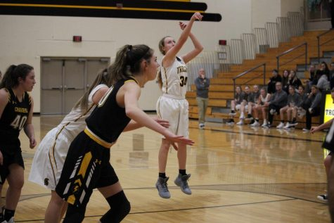 First Conference Game for Girls' Basketball