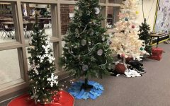 Tree Decorating Competition Located in Media Center