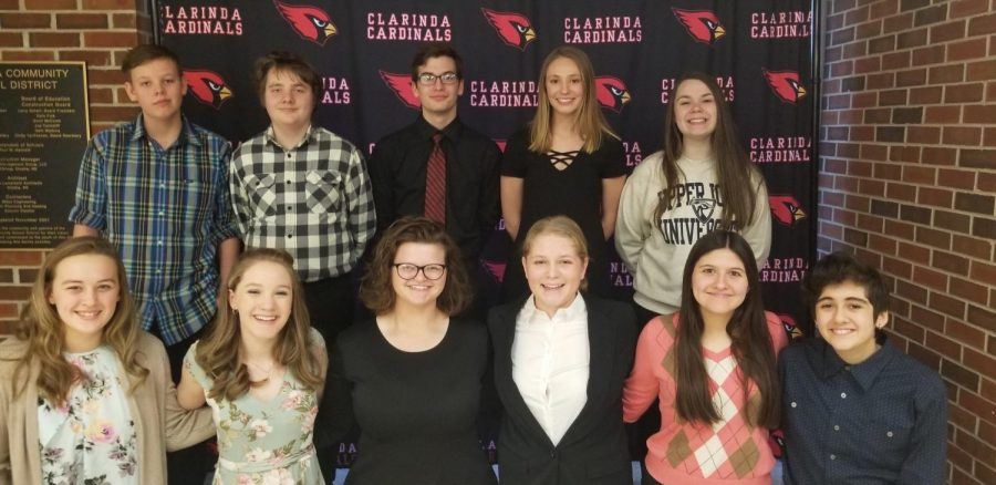 THE+LOOK+OF+SUCCESS+-+Speech+participants+grin+after+a+rewarding+day.+Three+of+Atlantic%27s+four+performing+groups+received+one+ratings+at+District+Speech+and+will+be+advancing+to+State.