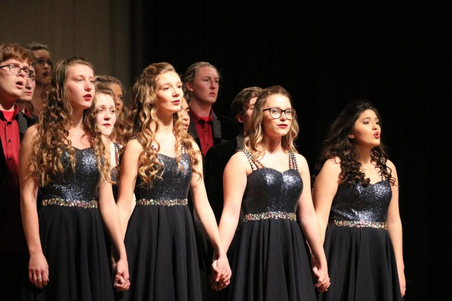 """GETTING INTO THE SWING OF THINGS - Show choir season is upon us. Both choirs will head to Dallas Center Grimes this weekend to compete. Katie Saluk, a member of Premiere, says, """"This season will be really fun. We hope everyone can come support the choirs."""""""