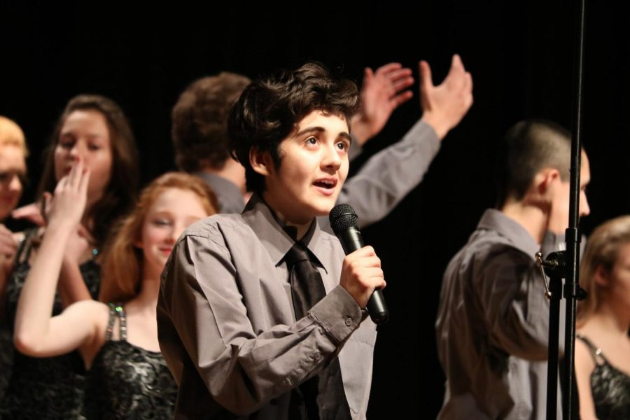 """DON'T STOP ME NOW - Diversity ends their show with an upbeat song titled """"Don't Stop Me Now,"""" featuring soloist Nolan Perez. """"I do show choir because I have a passion for performing, Perez said."""