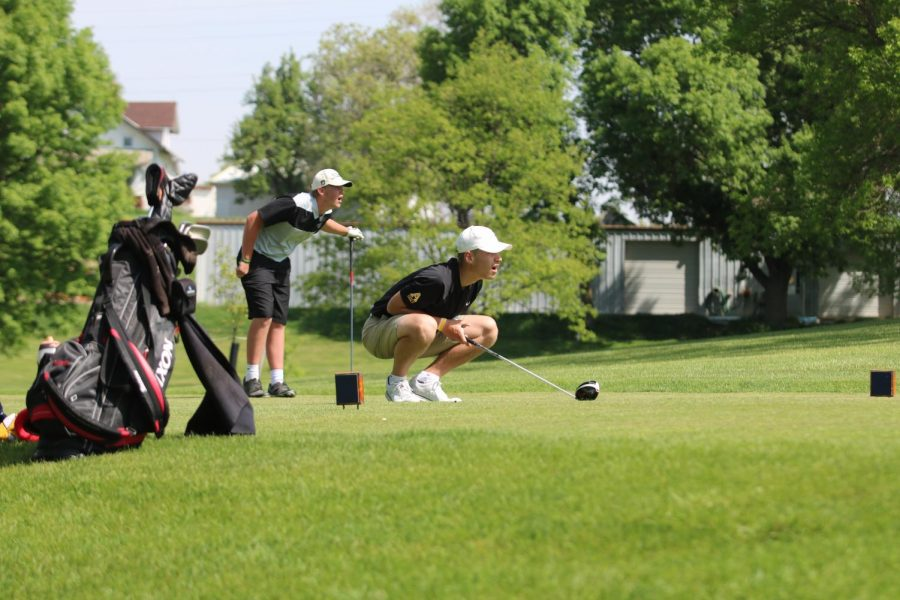 LOOK AT THAT SHOT - Junior Cyle Renaud watches his shot at one of the home tournaments in the 2018 season.