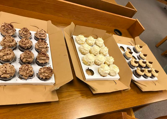Saluk was hired by the administrators to make some desserts for a meeting at the high school. She whipped up a couple batches of her signature cupcakes.
