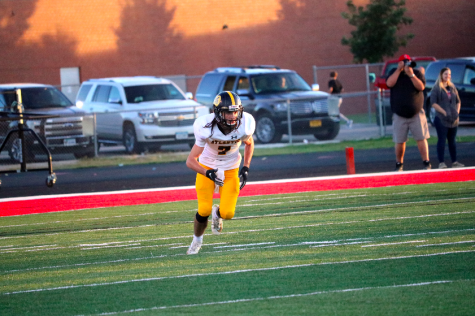 Junior Colin Mullenix sprints up the field. Mullenix finished the season with five touchdowns.